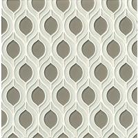 GLSMALWHLROCTOR - Mallorca Glass Mosaic - White Linen / Roca