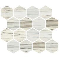 STPZEBSOC01MO - Zebrino Mosaic - Calacatta, Classico, Michelang