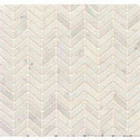 MRBWHTCARCHE - White Carrara Mosaic - White Carrara