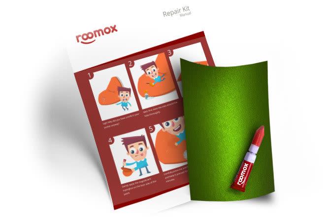 Roomox Beanbag Repairkit-NYL07 - Green