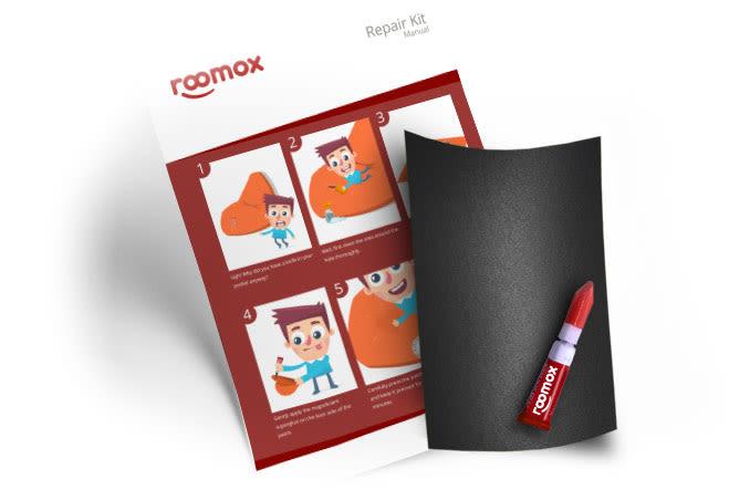 Roomox Beanbag Repairkit-NYL04 - Grey