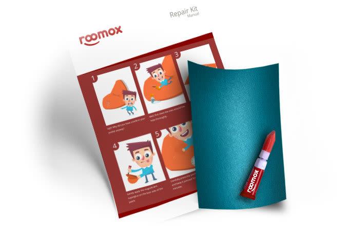 Roomox Beanbag Repairkit-NYL33 - Light blue