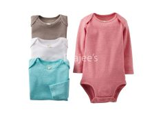 Carters Girls 4-Pack Long-Sleeve Bodysuits
