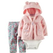 Carters Girls 3Piece Hooded Cardigan Set