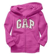 Gap Baby Girl Factory Arch Logo Zip Hoodie Parisian Plum