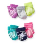 Carters Girl 6-Pack Terry Cuff Socks