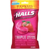Halls Triple Soothing Action Strawberry Cough Suppressant