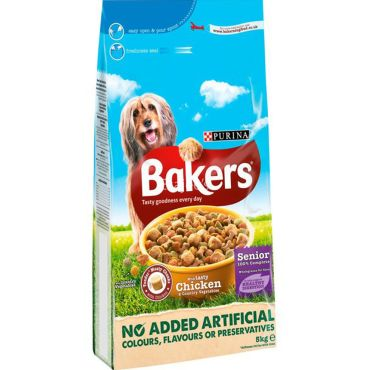 Bakers Complete Senior Chicken Dog Food