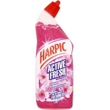 Harpic Active Fresh Pink Blossom Toilet Cleaner
