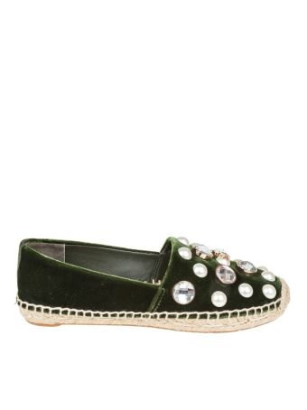 Tory Burch Espadrillas With Pearls Applications