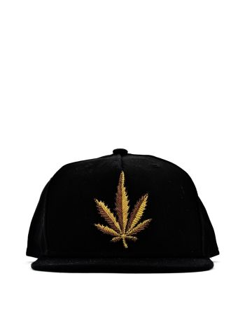 Black Gold Leaf Cap