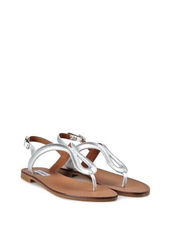 Steve Madden Takeaway Lamimated-leather Flat Sandals