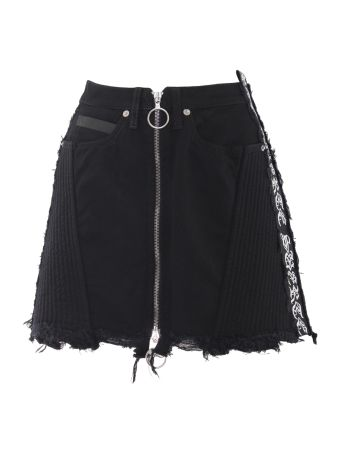 Marcelo Burlon Cotton Blend Mini Skirt