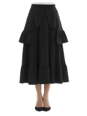 Black Polyester Skirt