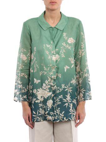 Max Mara Lora Floral Shirt In Ramiè