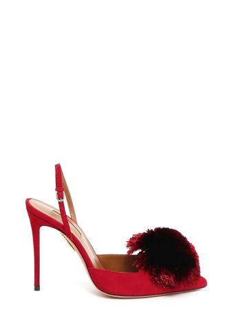 Aquazzura Suede 'powder Puff Sling'