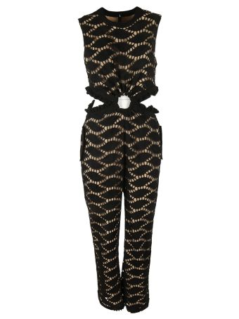 Self-portrait Self Portrait Cutwork Embroidered Jumpsuit