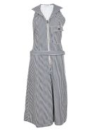 Chloé Pinstriped Dungaree Jumpsuit