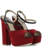 Red Velvet Sandals