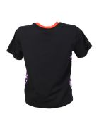 Cotton And Crepe T-shirt With Floreal Pattern