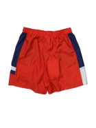 Red Nylon Shorts With Blue And White Stripe