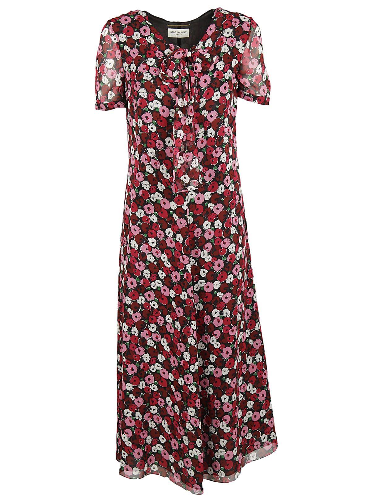 Rochie lungă SAINT LAURENT Floral