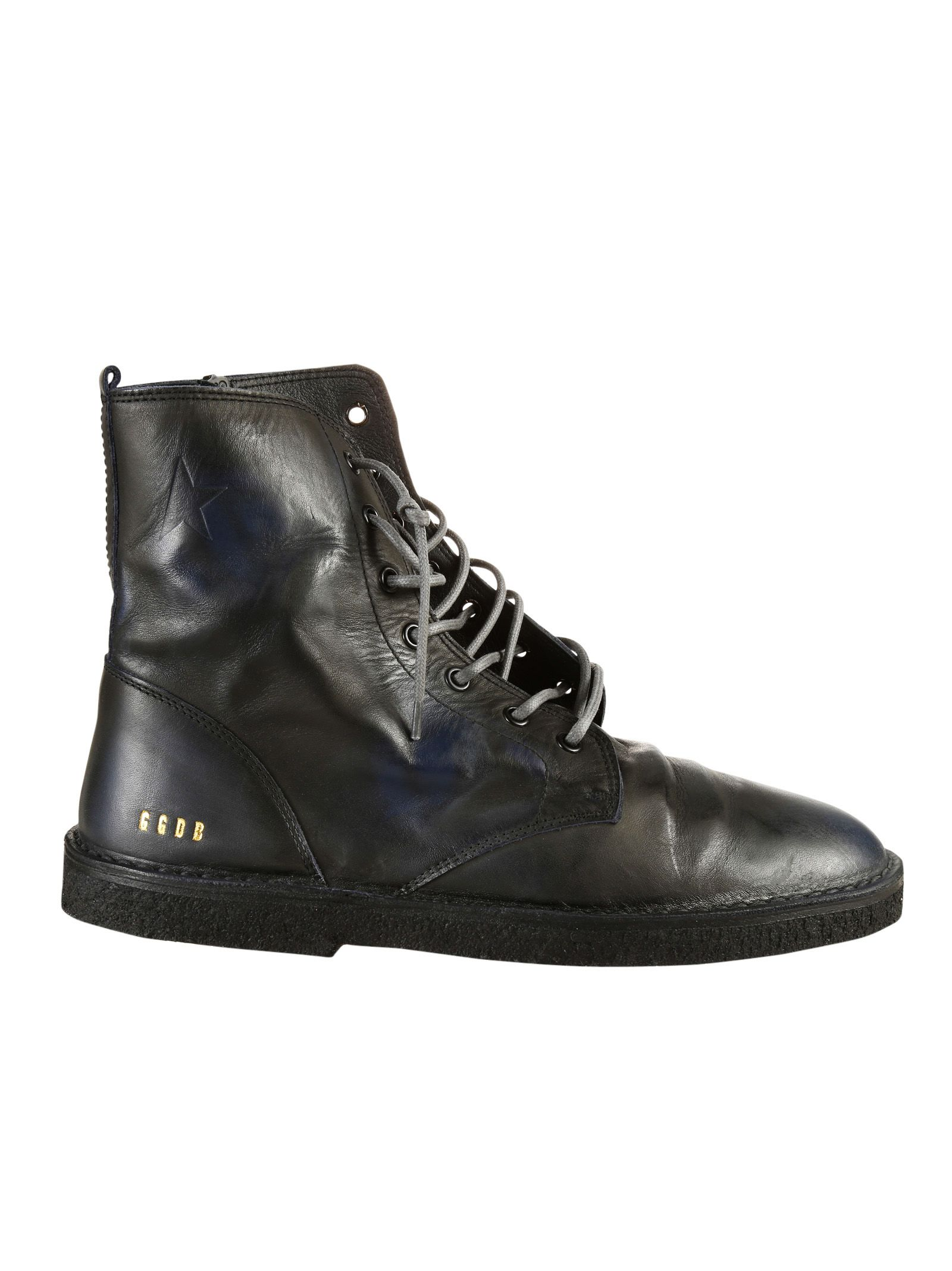 Golden Goose - Golden Goose Deluxe Brand Black Leather Lace-up ...