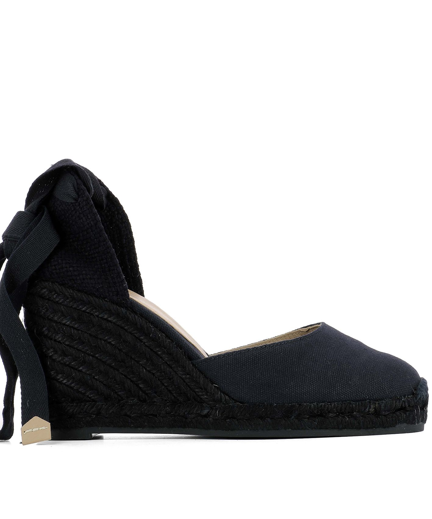 Blue Fabric Wedge Shoes