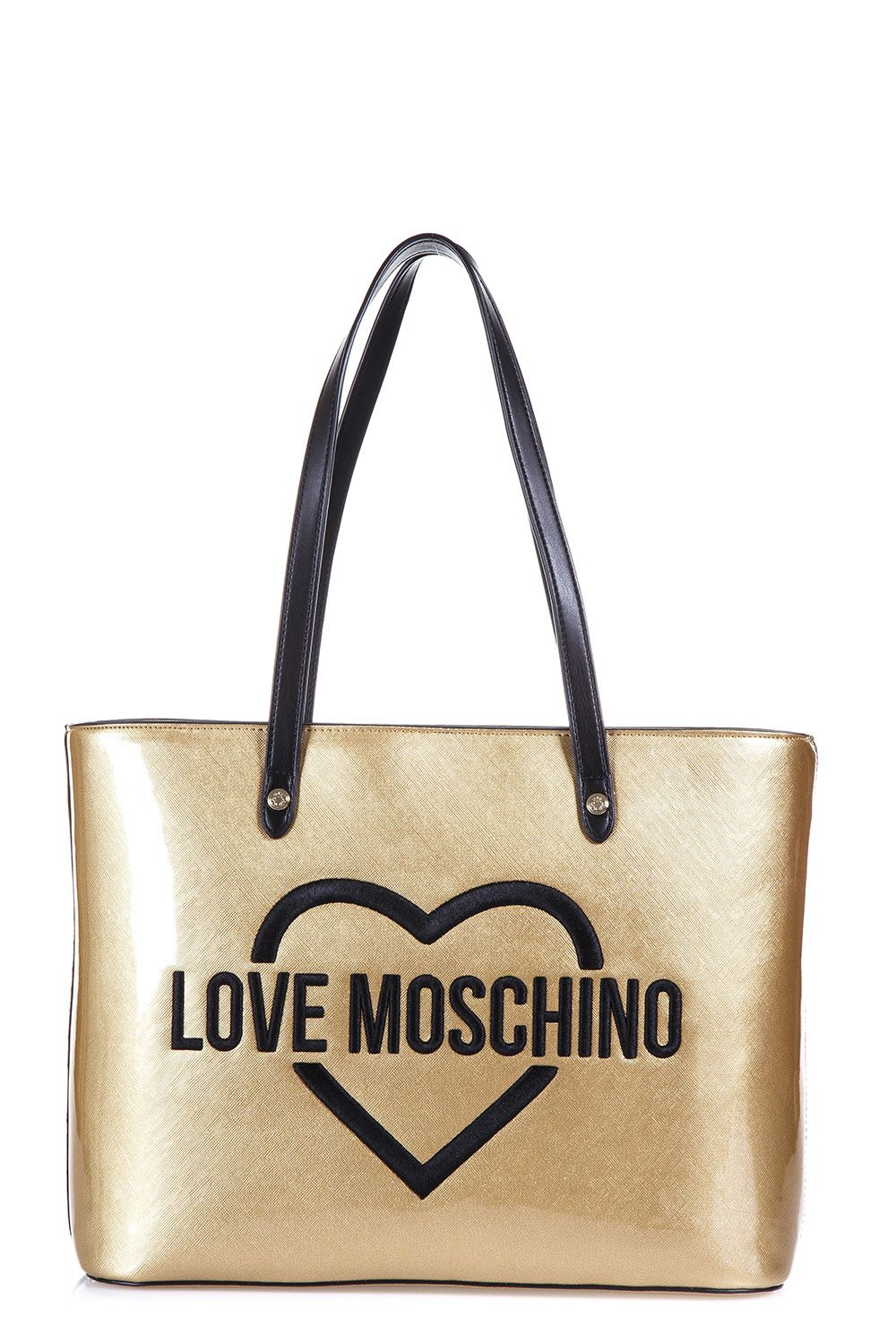 Love Moschino Logo Printed Tote Bag