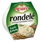 Rondele spreadable cheese garlic & herbs - President