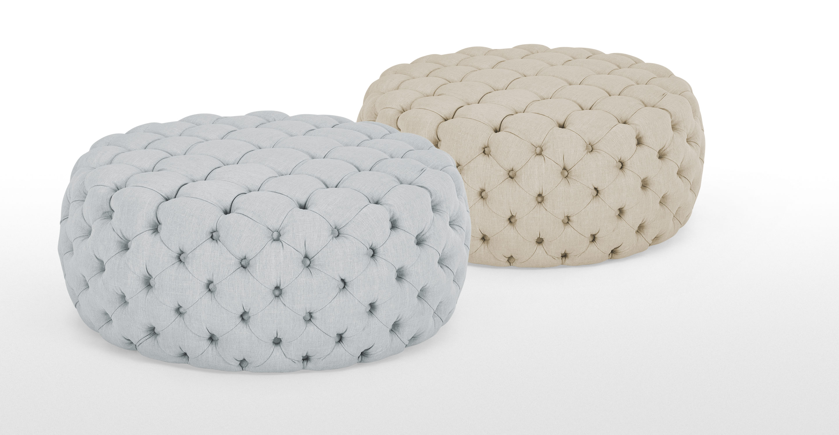 Large Round Ottoman : Blakes Large Round Ottoman in persian grey  made.com