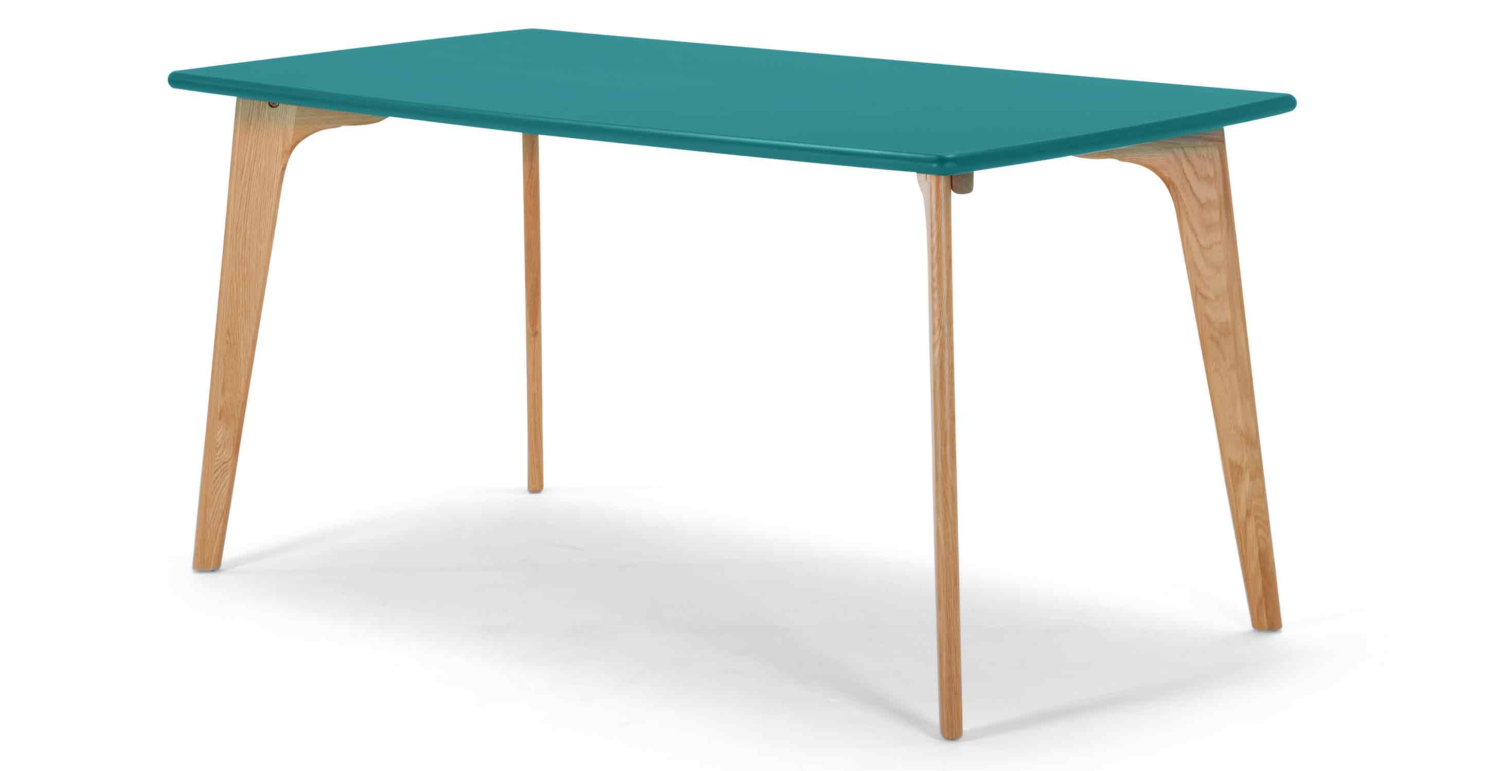 Fjord rectangle dining table oak and jay blue for Esstisch 120x70
