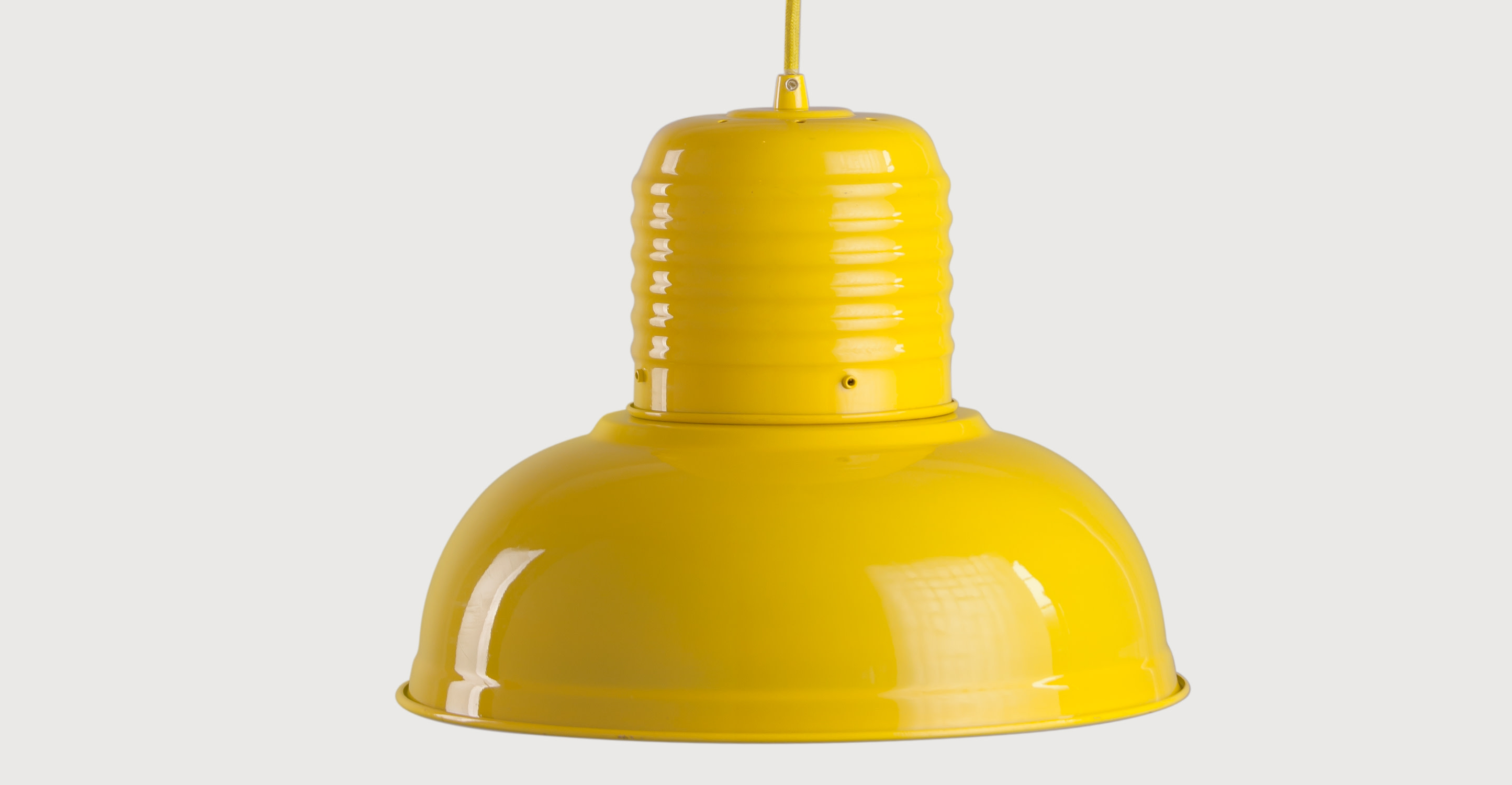 jackson pendant light in gloss yellow made