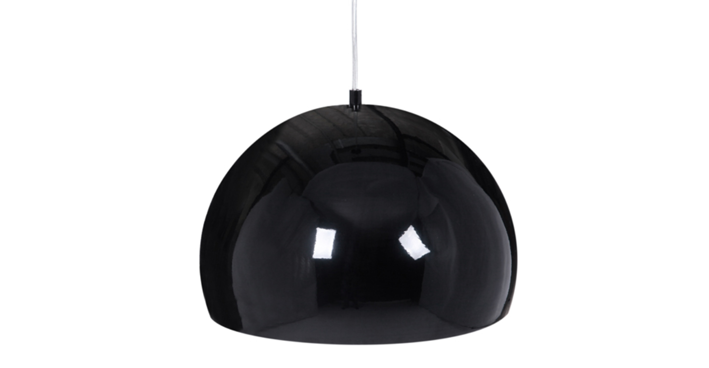 Boule suspension noir et aluminium for Suspension boule noire