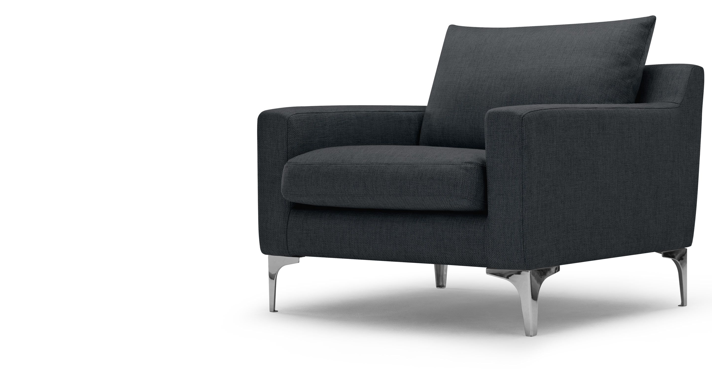mendini armchair in anthracite grey. Black Bedroom Furniture Sets. Home Design Ideas