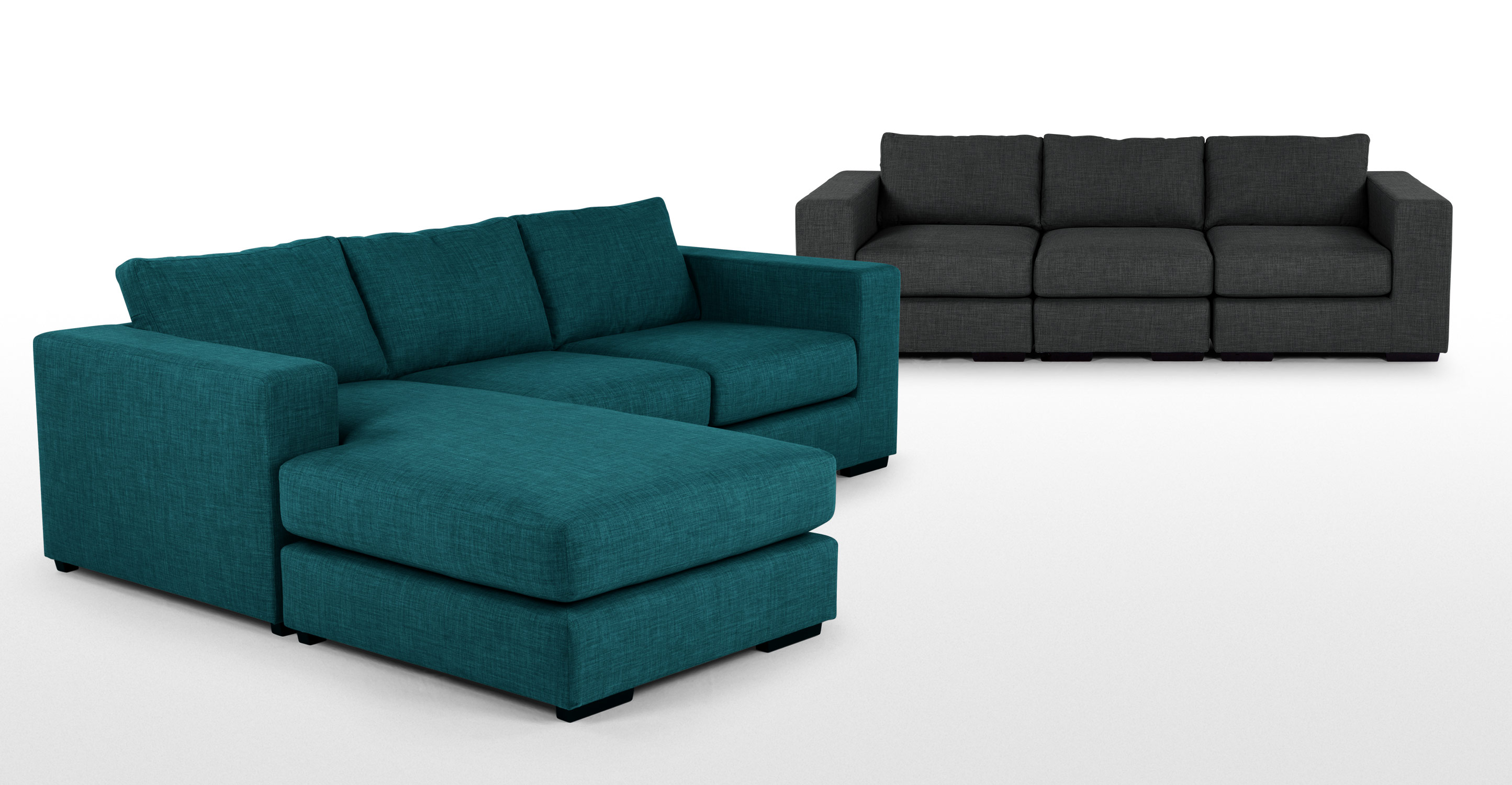 Mortimer Modular Corner Sofa Group Shadow Teal