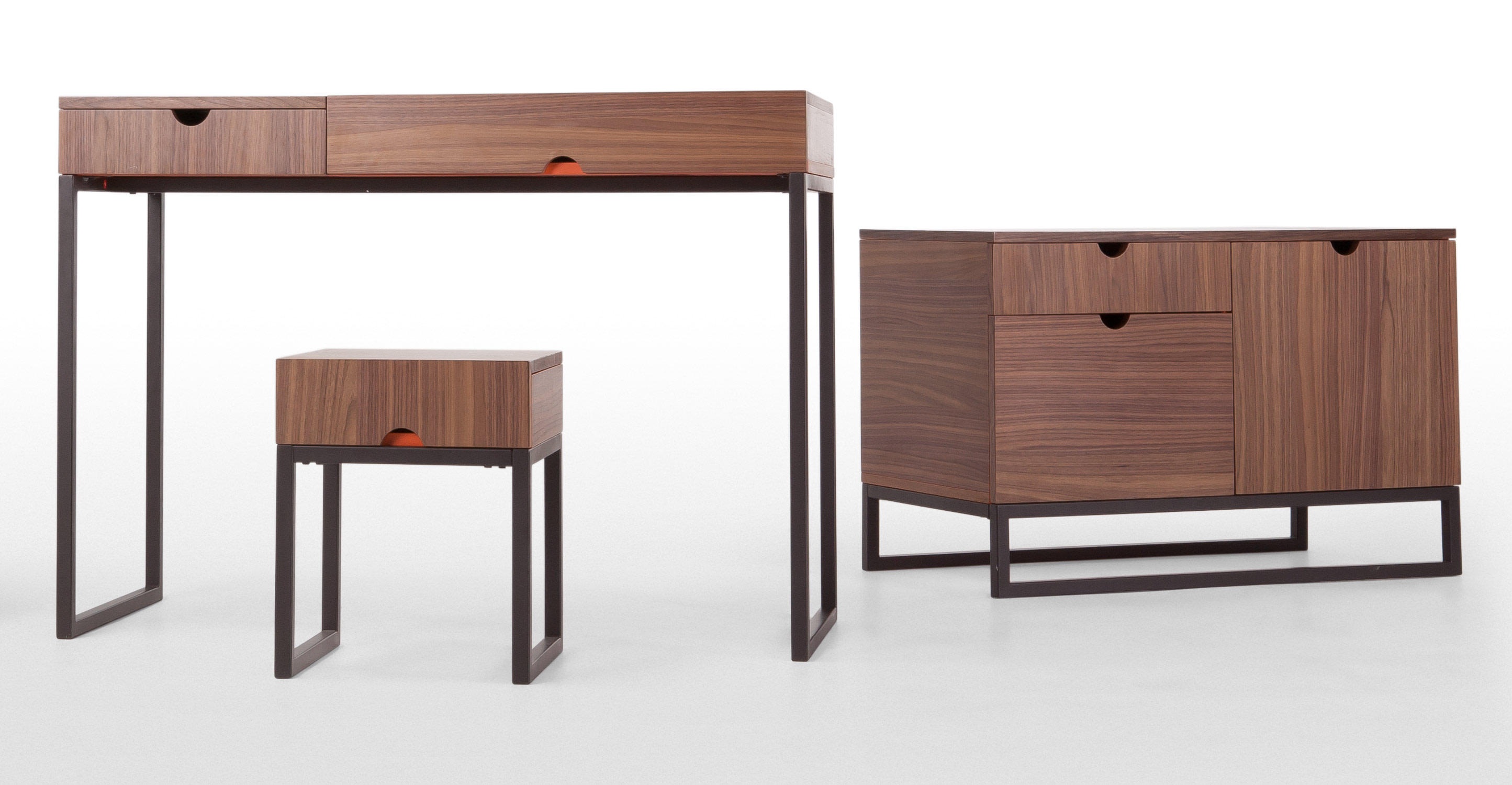Contrast orange and walnut sideboard for Sideboard orange