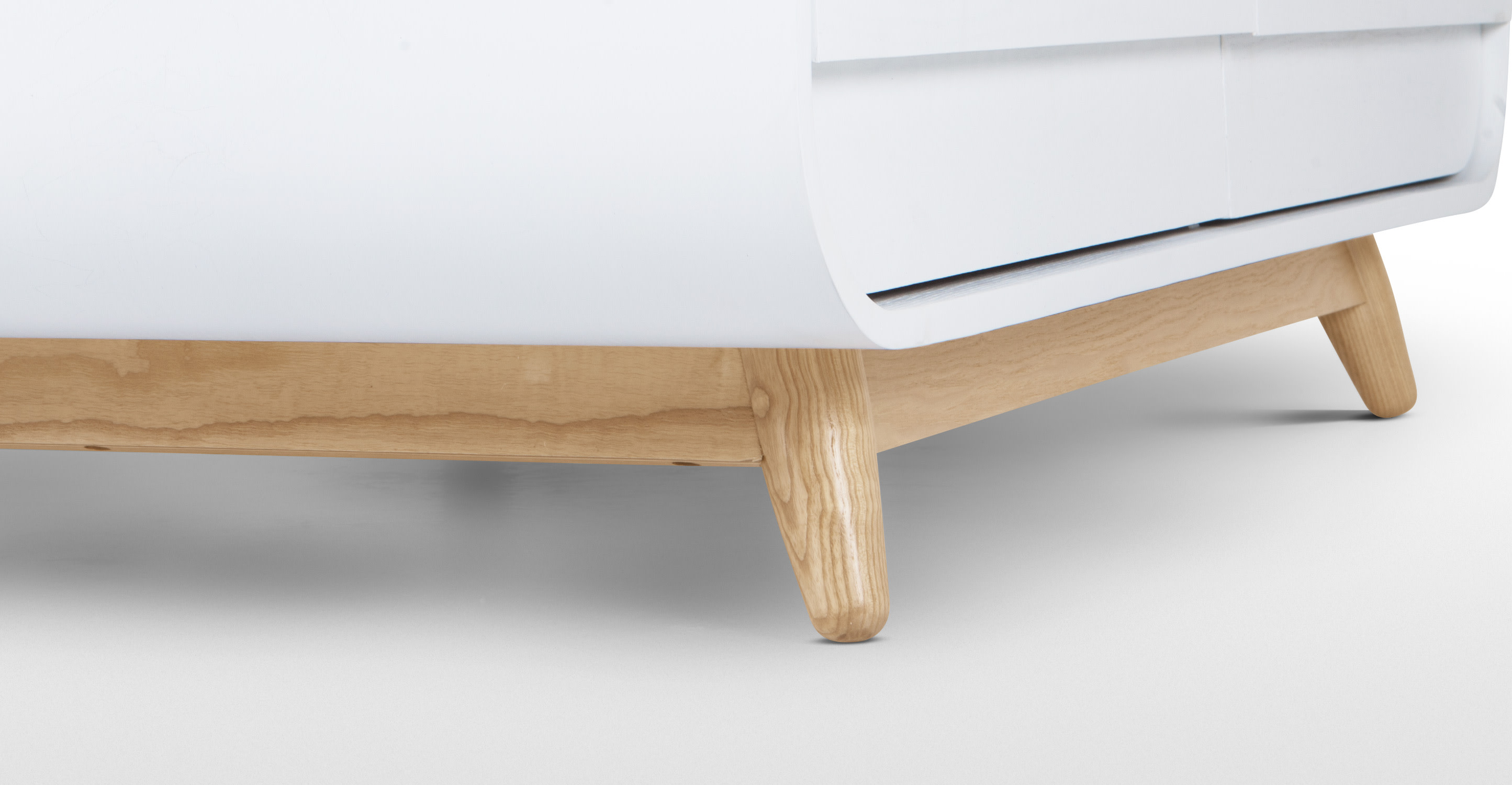 Esme Coffee Table With Two Drawers White And Ash