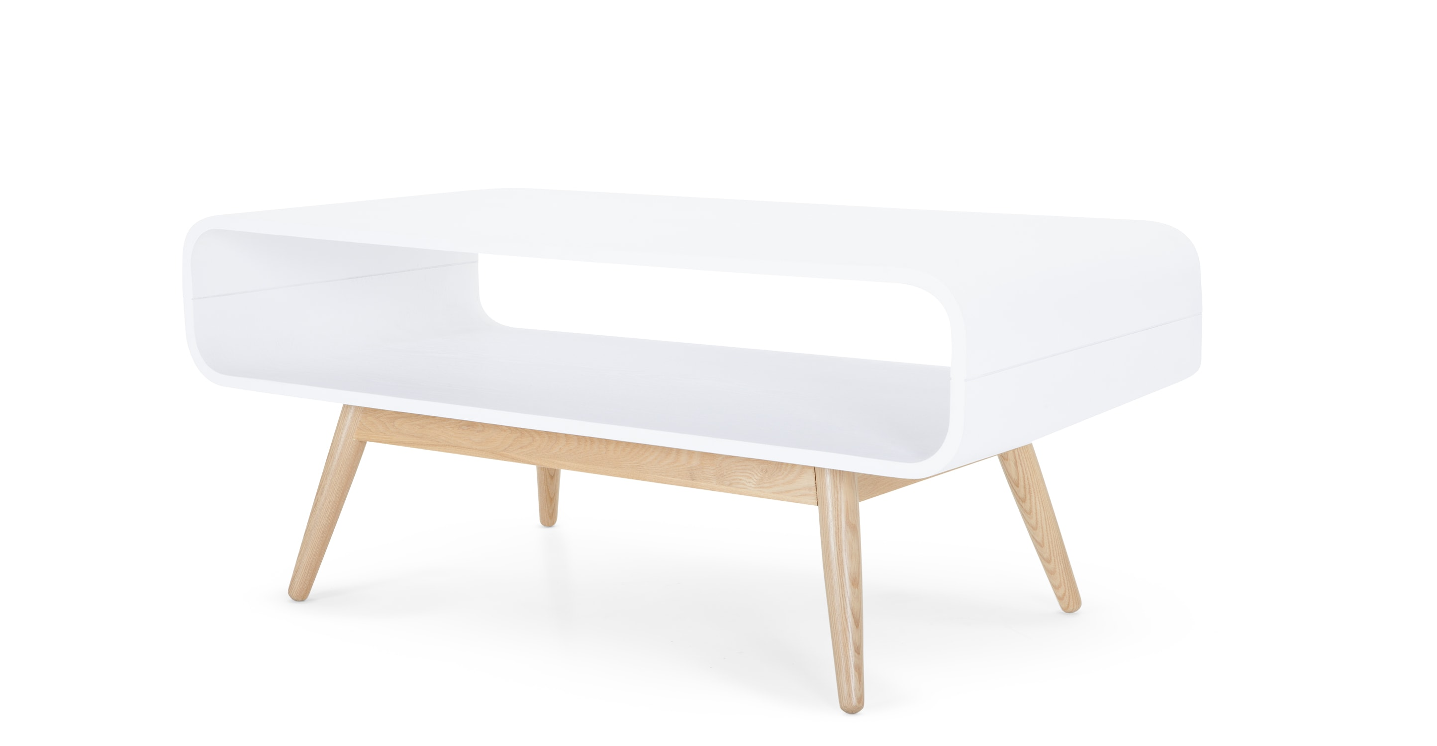 Esme Compact Coffee Table White And Ash