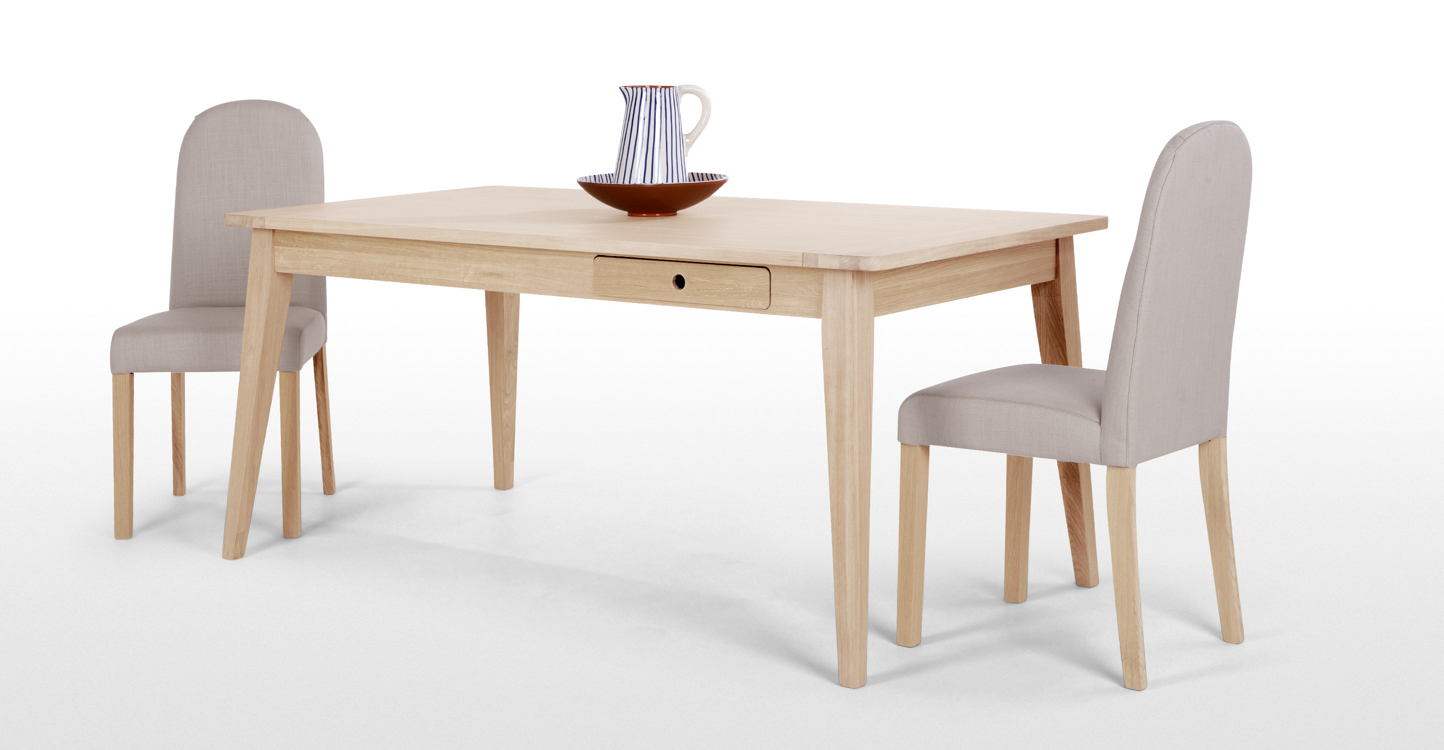 Anouk dining table limed white oak - Limed oak dining tables ...