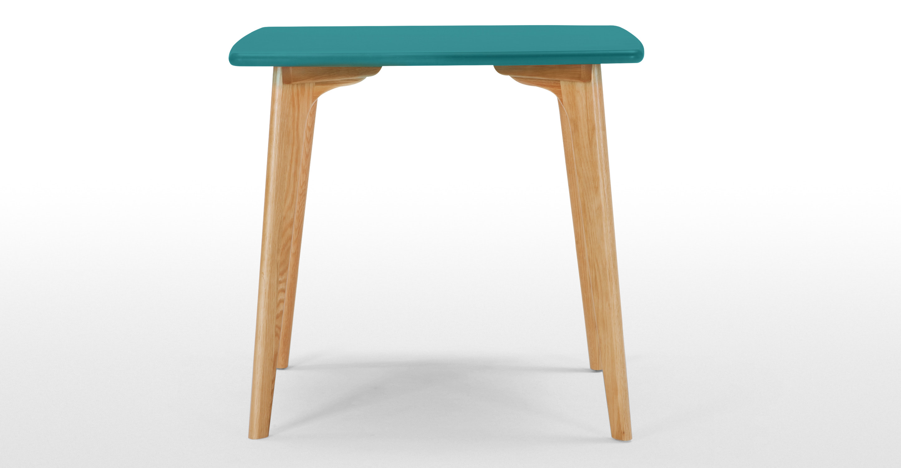 Fjord Compact Dining Table Oak And Jay Blue