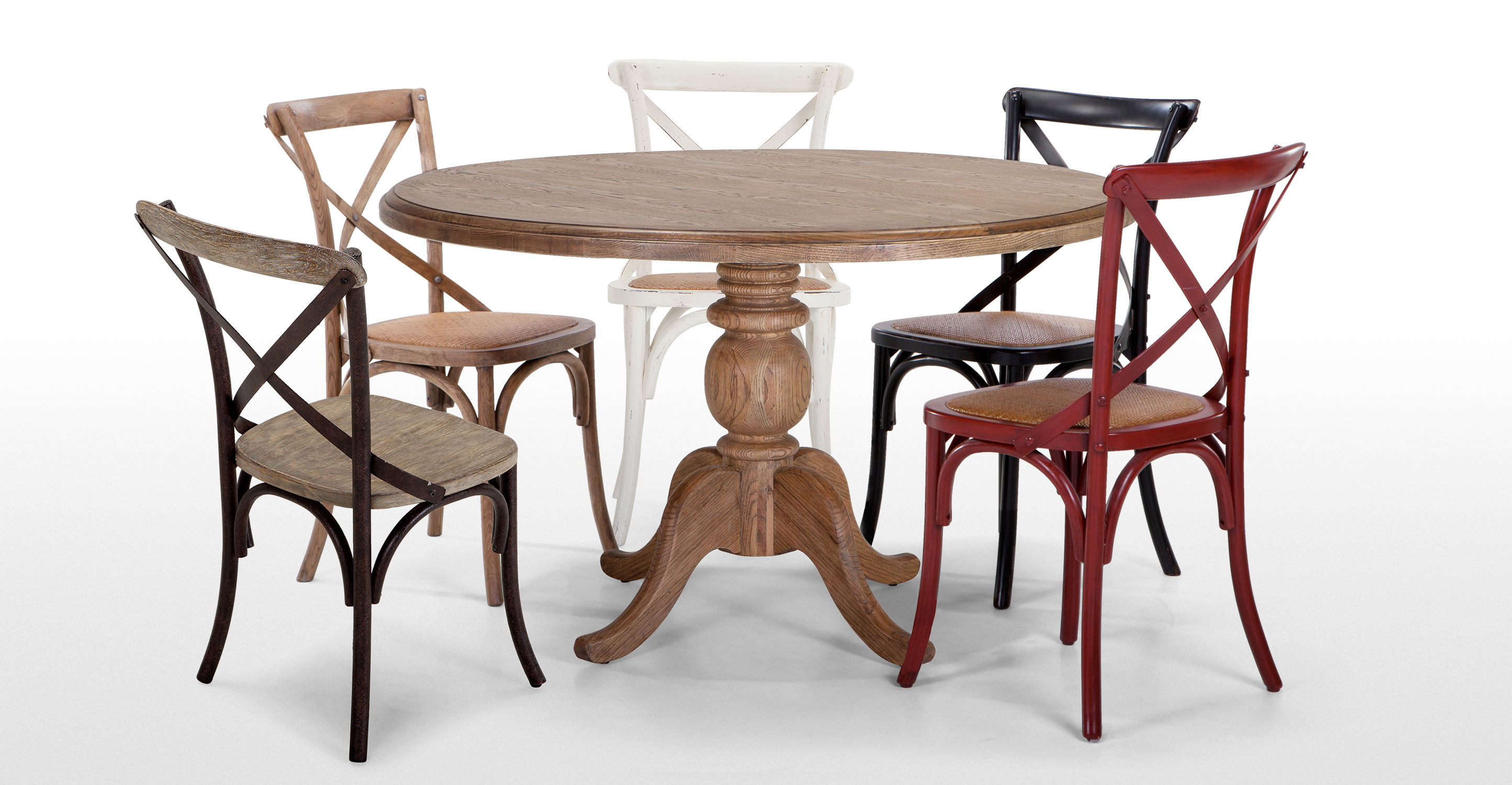 Rochelle Round Dining Table In Oak
