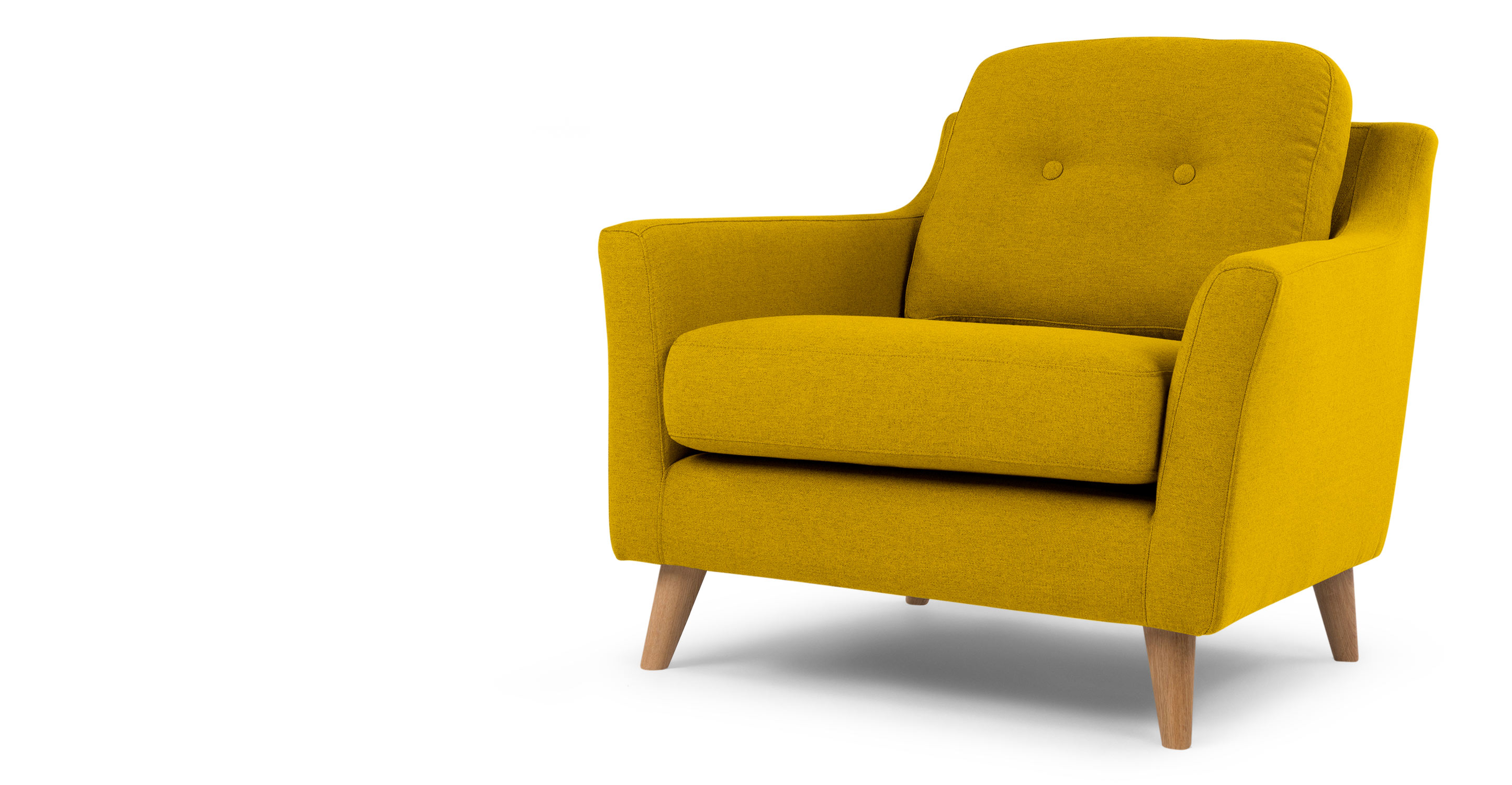 rufus armchair mustard yellow. Black Bedroom Furniture Sets. Home Design Ideas