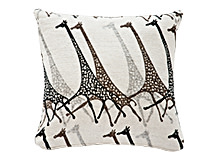 Savana Large Giraffe Print Scatter Cushion 50 x 50cm, Black