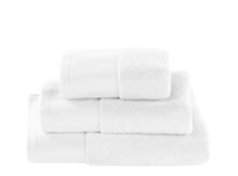 Aire Zero Twist 550 GSM Cotton Towels, White