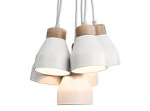 Albert Cluster Pendant Lamp, Muted Grey