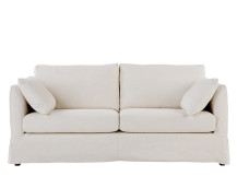 Antibes Loose Cover 3 Seater Sofa, Chalk