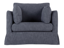 Antibes Loose Cover Love Seat, Denim