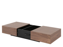 Arjan Coffee Table, Walnut and Black Gloss