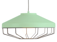 Arthur Shallow Pendant Lamp, Mint